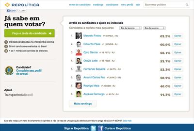 516855 repolitica site que ajuda a encontrar o candidato ideal 2 Repolítica: site que ajuda a encontrar o candidato ideal