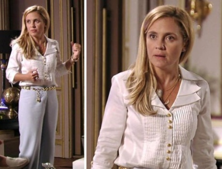 516979 As roupas brancas são muito usadas pela personagem Foto divulgação. O estilo de Carminha, de Avenida Brasil: fotos