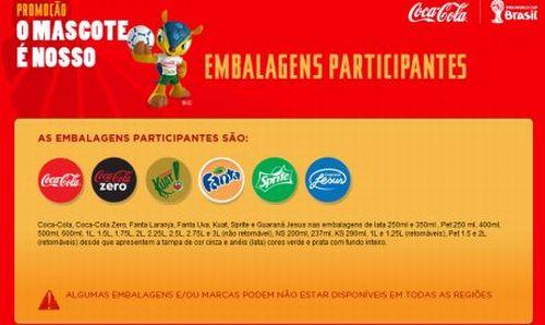 517710 promocao o mascote e nosso coca cola 1 Promoção O Mascote É Nosso Coca Cola