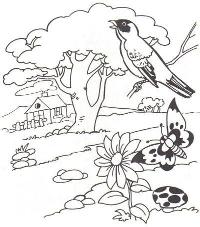 518220 Desenhos sobre primavera para colorir 1 Desenhos sobre primavera para colorir