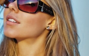Óculos de sol para rosto redondo