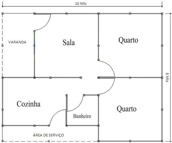 51889 Planta de Casas Populares Grátis 16 Planta de Casas Populares Grátis