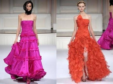 518962 As fendas são ótimas opções para vestidos com babados. Foto divulgação Vestidos de Babados Longos   Modelos, Fotos