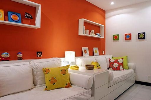 519911 A decoração com cores diferentes e florais deixam a sala de visita mais bonita. Foto divulgação Cores para sala de visitas: dicas, fotos