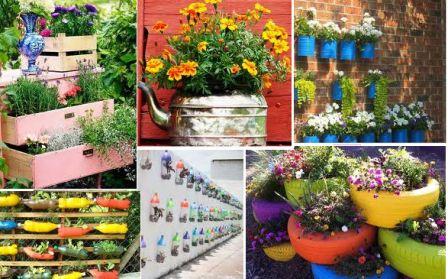 519932 Várias decorações podem ser feitas em jardins com materiais recicláveis. Foto divulgação Jardim decorado com materiais recicláveis: dicas