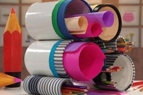 520421 Objetos de escritório feitos com materiais recicláveis 3 Objetos de escritório feitos com materiais recicláveis
