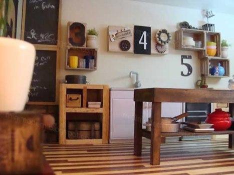 521882 Decoração da cozinha com objetos reciclados Decoração da cozinha com objetos reciclados