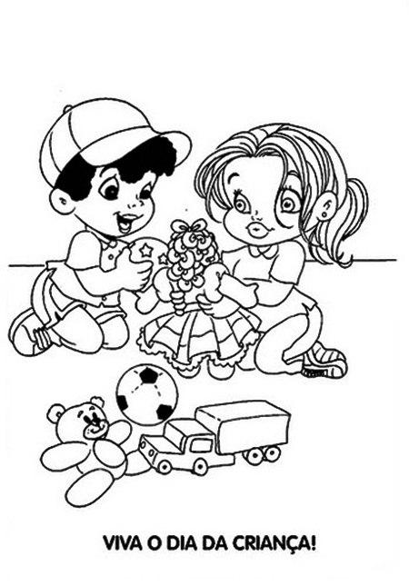 521930 Dia das crianças desenhos para colorir 2 Dia das crianças: desenhos para colorir