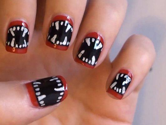 Ideias criativas de unhas decoradas para Halloween