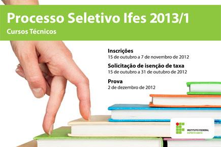 527291 Ifes 2013 01 Cursos técnicos Ifes 2013: vagas, inscrições