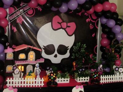 530064 Decoração de festa Monster High.1 Decoração de festa Monster High