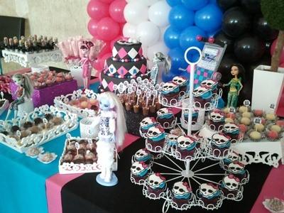 530064 Decoração de festa Monster High.4 Decoração de festa Monster High