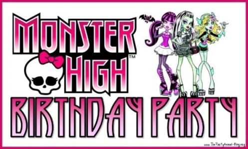 530064 Decoração de festa Monster High.7 Decoração de festa Monster High