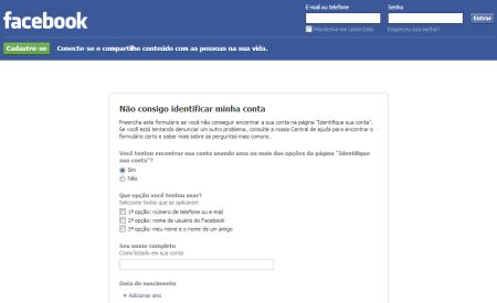 533959 como recuperar conta do facebook 2 Como recuperar uma conta do Facebook