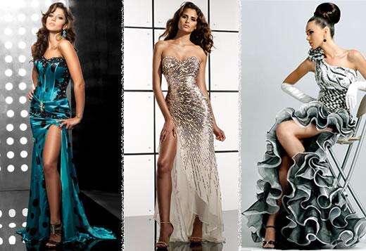 537770 Os bordados e fendas podem estar presentes no vestidos de formatura. Foto divulgação Vestidos longos de formatura: fotos