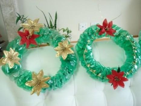 538606 As guirlandas de materiais recicláveis são excelentes opções. Foto divulgação Festa de Natal na escola: dicas de decoração