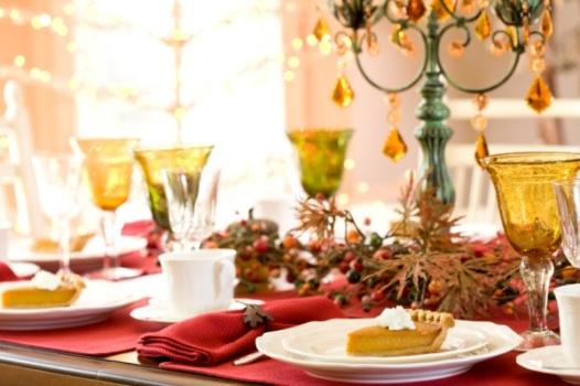544776 Decoração de mesa de jantar para natal Decoração de mesa de jantar para Natal