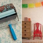 546226 Rolo texturizado cria efeito de papel de parede. Foto divulgação 150x150 Rolo texturizado para a parede: saiba mais