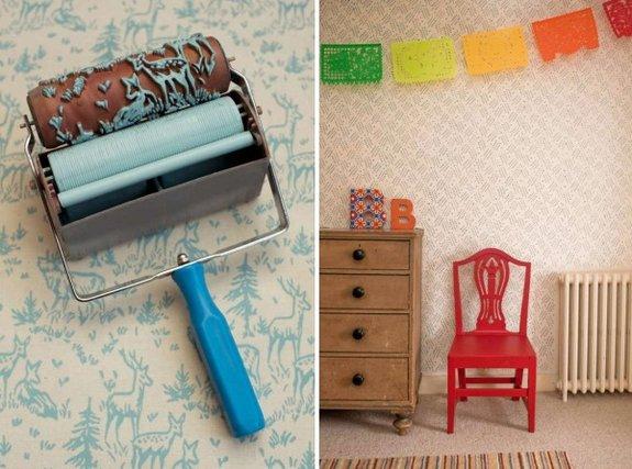 546226 Rolo texturizado cria efeito de papel de parede. Foto divulgação Rolo texturizado para a parede: saiba mais