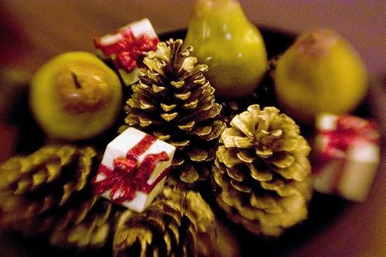 546490 As peras podem ser utilizadas para enfeitar as mesas natalinas. Foto divulgação Decoração de Natal com frutas: ideias, fotos