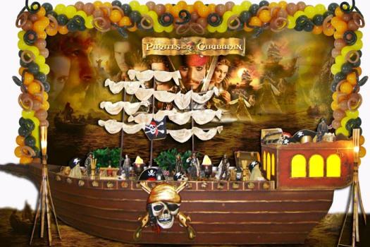 546709 Decoração de aniversário piratas do caribe 7 Decoração de aniversário Piratas do Caribe