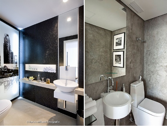 itens decoracao lavabo : itens decoracao lavabo: as paredes. 150×150 Dicas para decorar lavabos com papel de parede