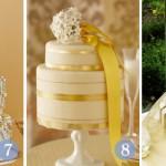 552417 O bolo pode ser feito com detalhes dourado. Foto divulgação 150x150 Decoração de casamento dourado e branco