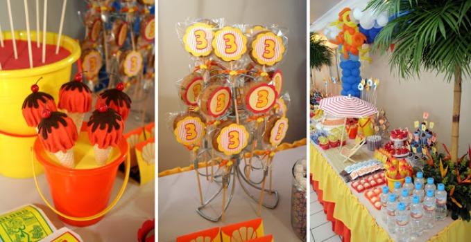553542 Decoração com tema praia para festa 5 Decoração com tema praia para festa