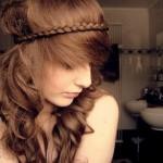 555504 Headband de trança é super sofisticado. 150x150 Penteados para ir à escola: dicas