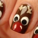 556935 Cabeças de renas. 150x150 Unhas decoradas com motivos natalinos: fotos