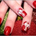 556935 Imitar a embalagem de presentes é uma maneira fácil de decorar as unhas. 150x150 Unhas decoradas com motivos natalinos: fotos