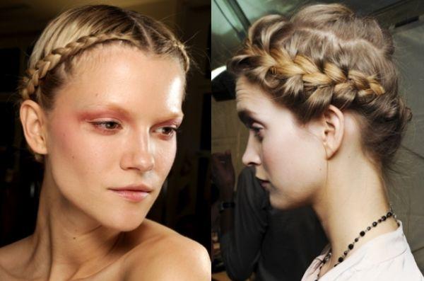 559596 Penteados com tranças embutidas ao estilo tiara são muito femininos2. Penteados para Réveillon na praia