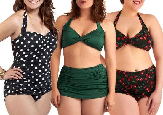 561315 Os modelos de cintura alta são tendência. Biquínis plus size 2013: fotos, tendências
