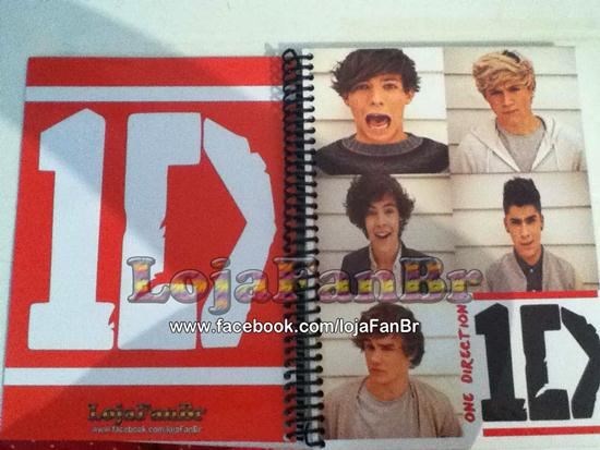 Material escolar do One Direction