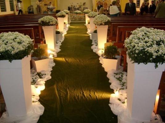 568516 Decoração de casamento de igreja simples.1 Decoração de casamento de igreja simples