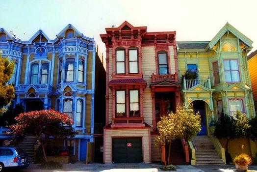 569135 Fachadas de casas coloridas 1 Fachadas de casas coloridas