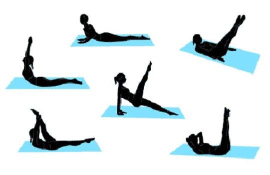 570178 Vário exercícios de pilates podem ser feitos em casa. Foto divulgação Exercícios de pilates para fazer em casa