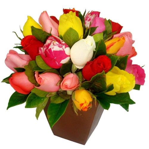 573973 Os arranjos de rosas são lindos. Foto divulgação Arranjo de flores coloridas: como fazer