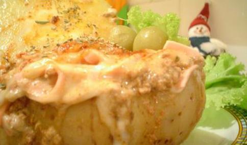 576115 Receita de batata assada recheada com frango 1 Receita de batata assada recheada com frango