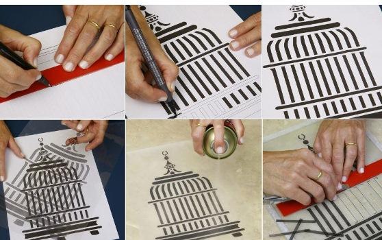 576444 Molde para pintura estêncil como fazer Molde para pintura estêncil: como fazer