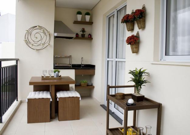 Varanda gourmet pequena dicas for Mesas para terrazas pequenas