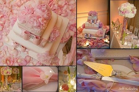 581850 Decoração de casamento branco e rosa 03 Decoração de casamento branco e rosa