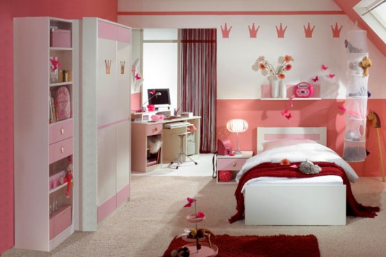 583763 Quarto para meninas em tons cor de rosa. Foto divulgação Quartos cor de rosa para meninas: fotos