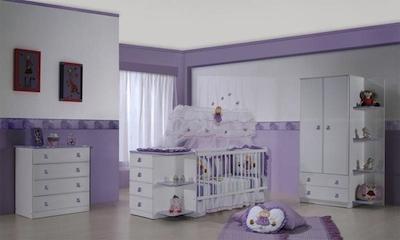 58402 quarto de bebe lilas 4 Decoração de Quarto de Bebê Lilás