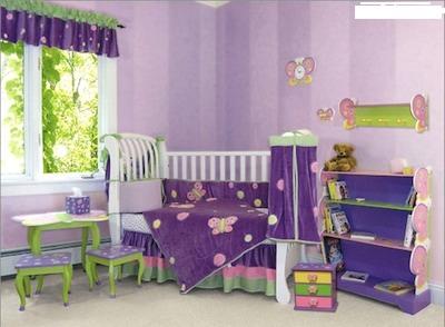 58402 quarto de bebe lilas2 Decoração de Quarto de Bebê Lilás