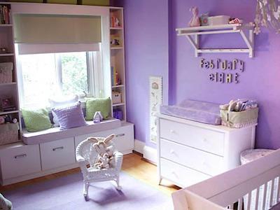 58402 quartos decorados de bebe lilas1 Decoração de Quarto de Bebê Lilás