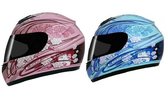 Modelos de capacetes femininos: fotos