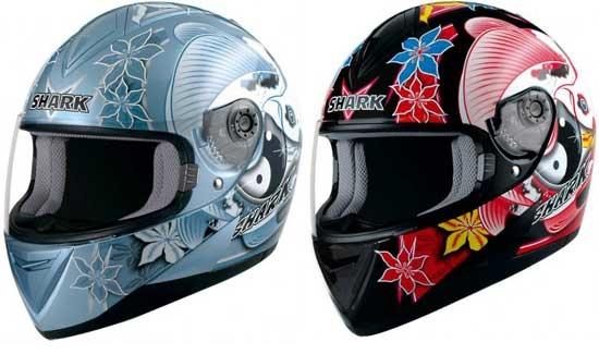 586135 s650ikebana Modelos de capacetes femininos: fotos