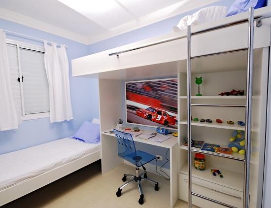 586142 Quarto menino Apartamento Decorado 3 dorms com suíte 61m² Quarto infantil pequeno: ideias para decorar, fotos