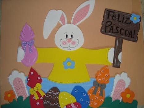 587275 Decoração de páscoa em EVA para sala de aula Decoração de Páscoa em EVA para sala de aula